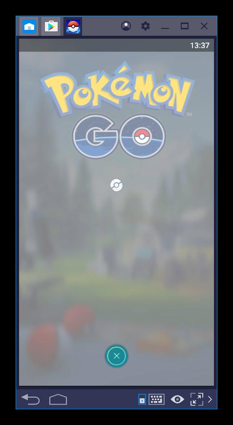 Долгий вход в Pokemon Go для BlueStacks