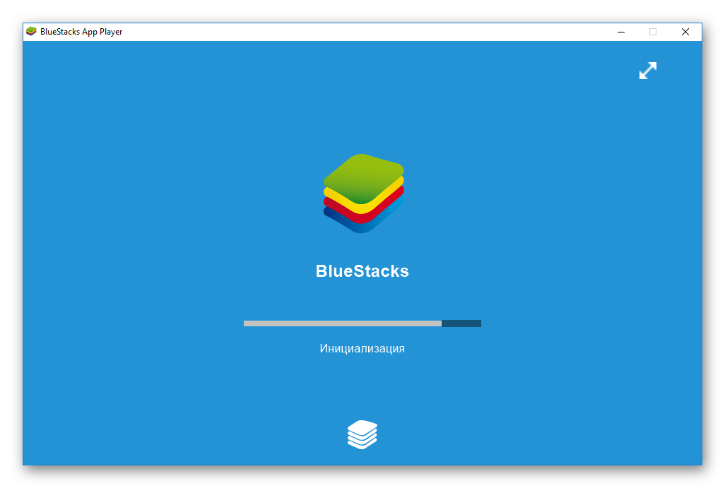 Процедура инициализации BlueStacks 1